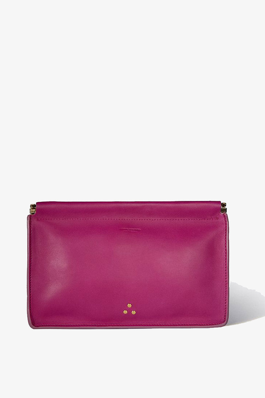 Jerome Dreyfuss Clic Clac Clutch in Bougainvilliers - Vert & Vogue