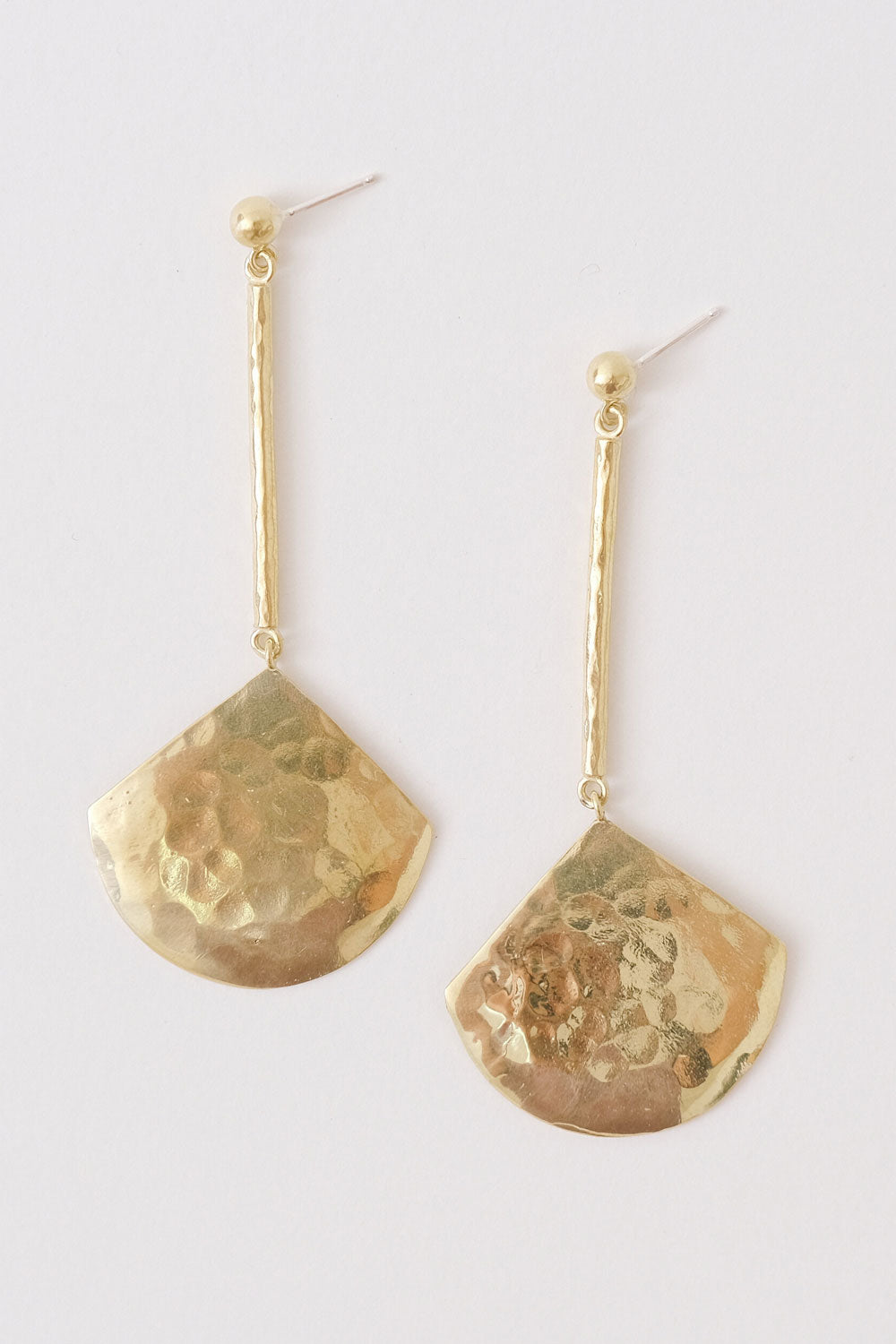 Concha Earrings in Brass