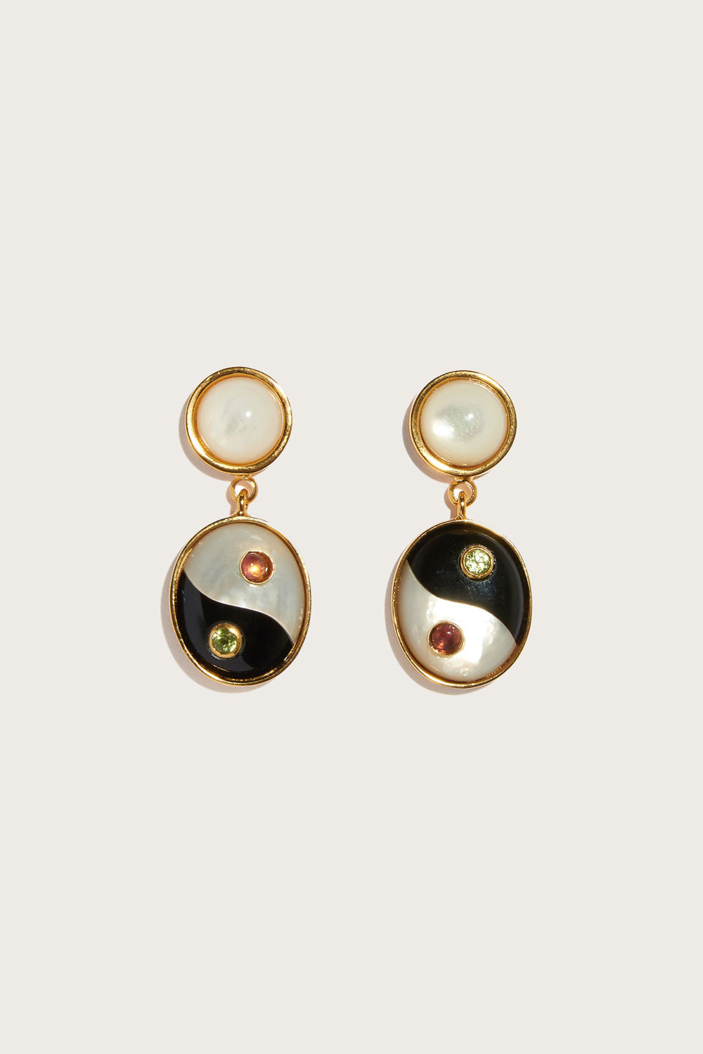 Ying Yang Earrings in Multi
