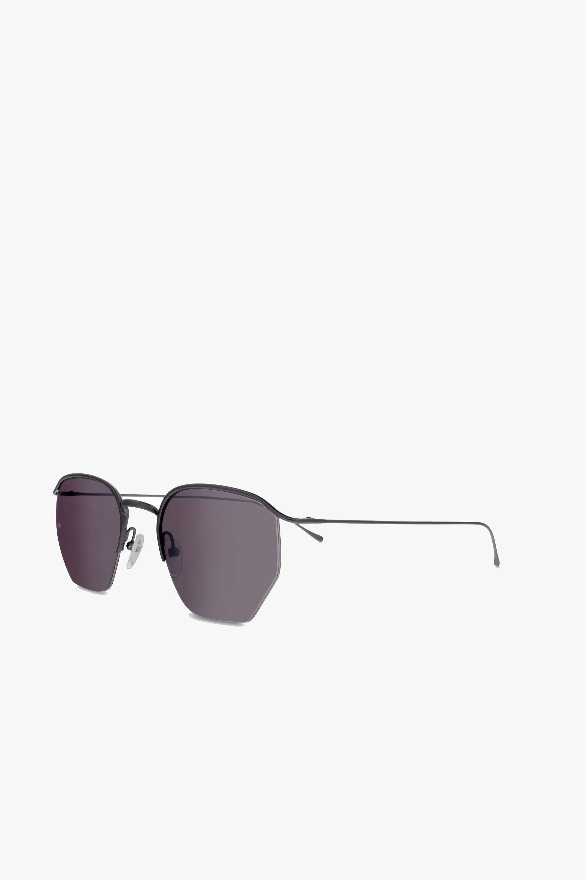 Smoke x Mirrors Geo 1 sunglasses in gunmetal - Vert & Vogue