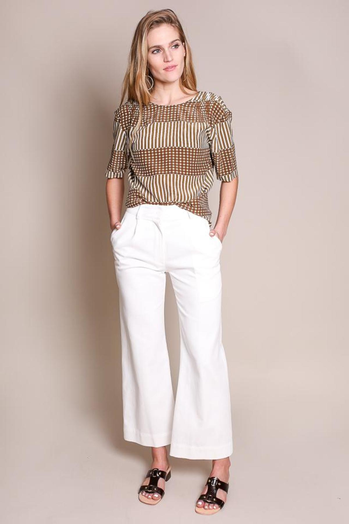 Wide Leg Wini Pant in White