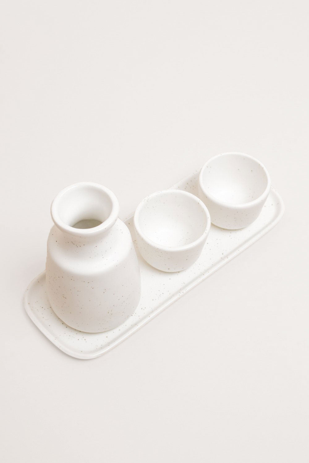 Four Piece Sake Set for Two in Birch