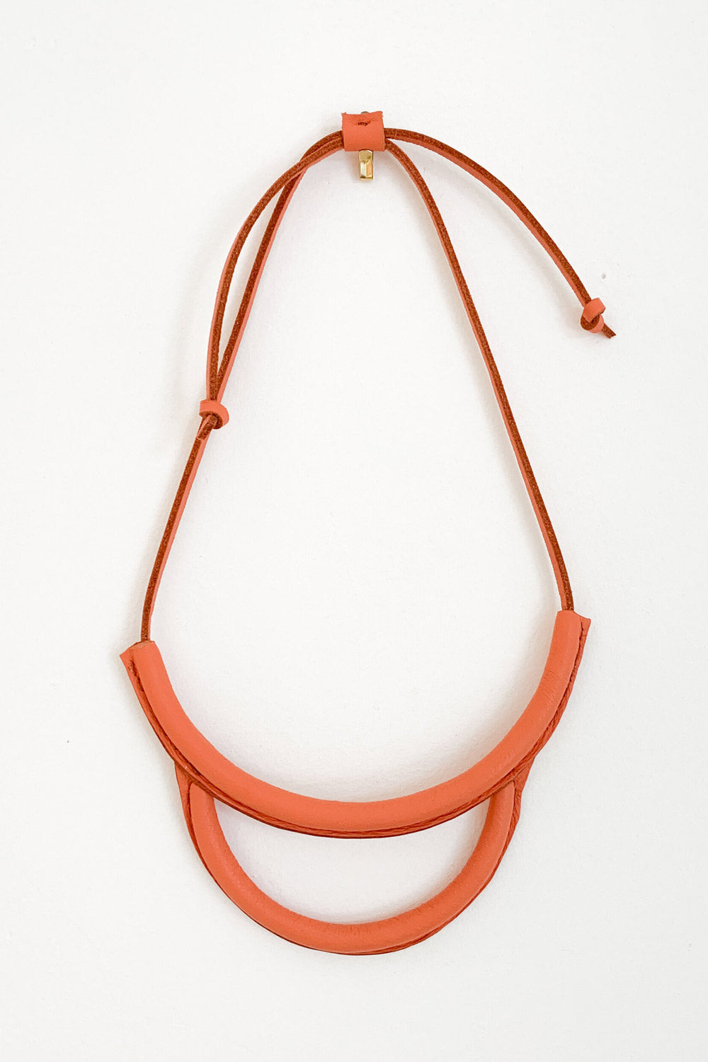 Arc Necklace in Coral