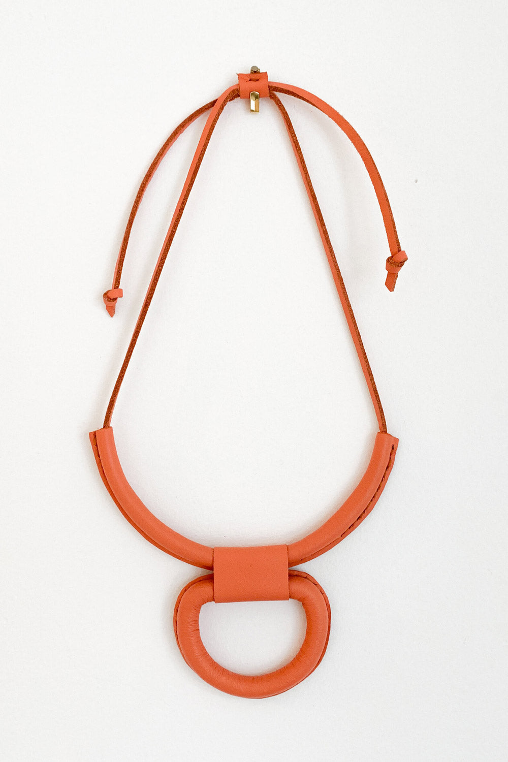 Union Necklace in Coral