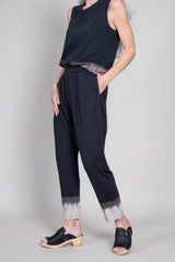Easy Pant in Black Horizon Tie Dye