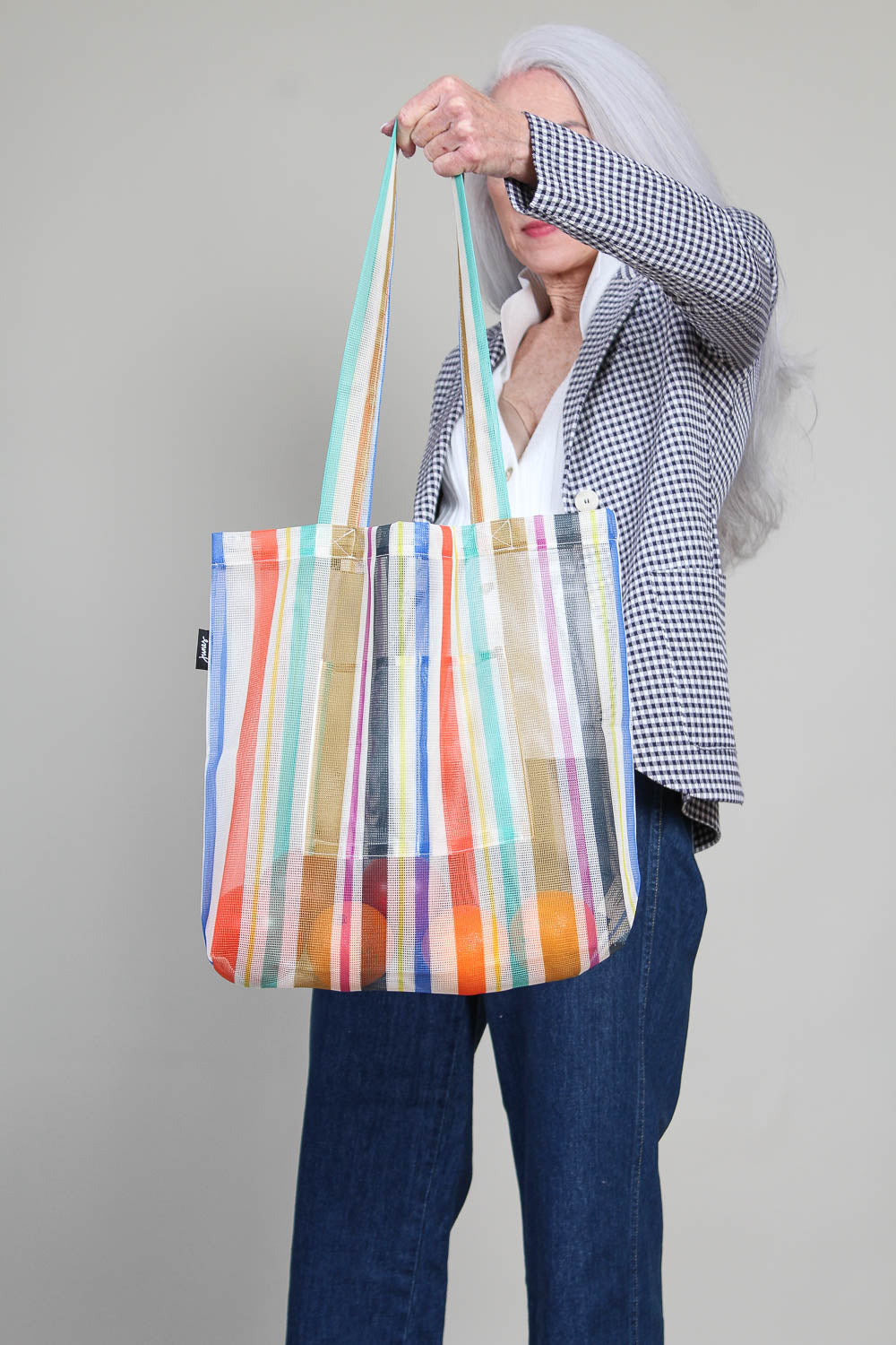 Market Tote in Rayas Print