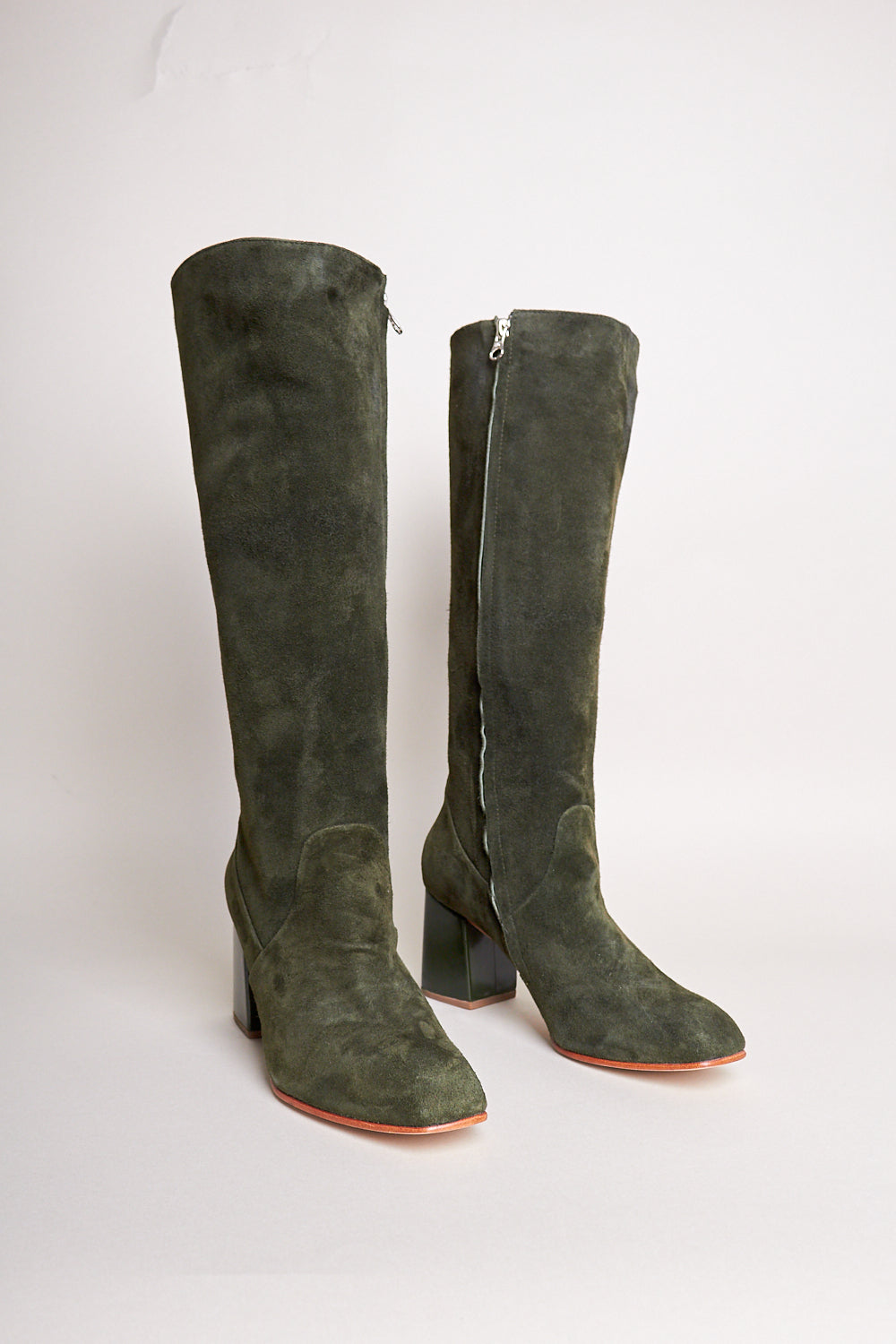 Sloan Knee High Boot in Pine / Bottle