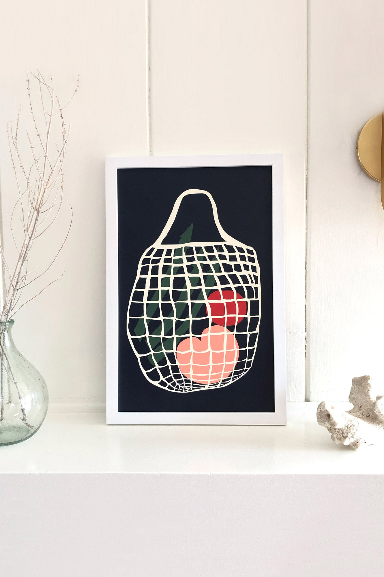 Slowdown Studio An Ode To My String Bag Art Print by Jordan Lee - Vert & Vogue
