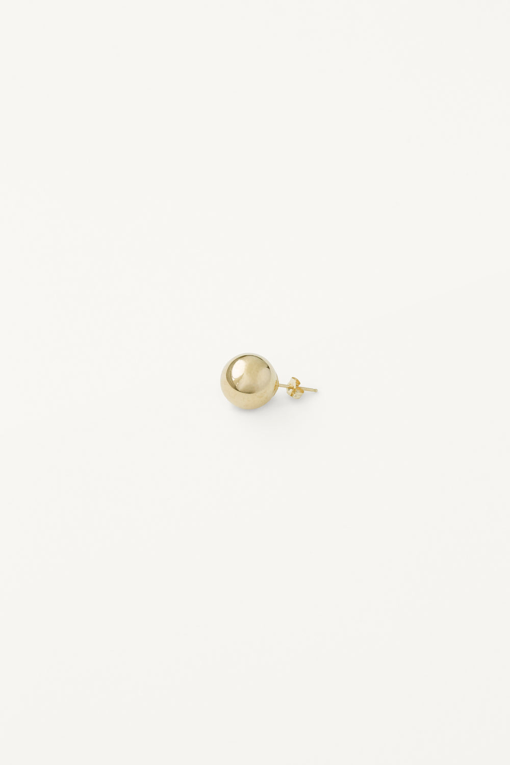Medium Sphere Stud in Gold
