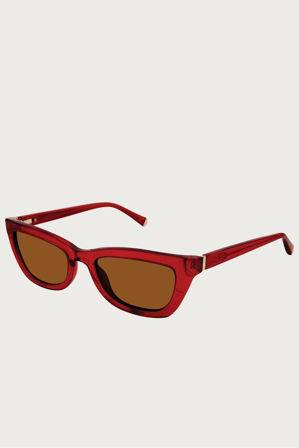 Kate Young For Tura Katia Sunglasses in Red - Vert & Vogue
