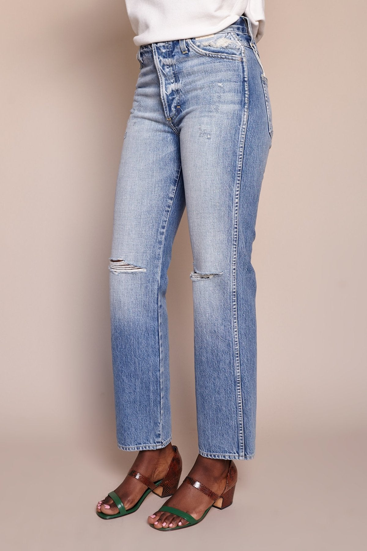 Layla Destroyed Relaxed Jean in Charmer