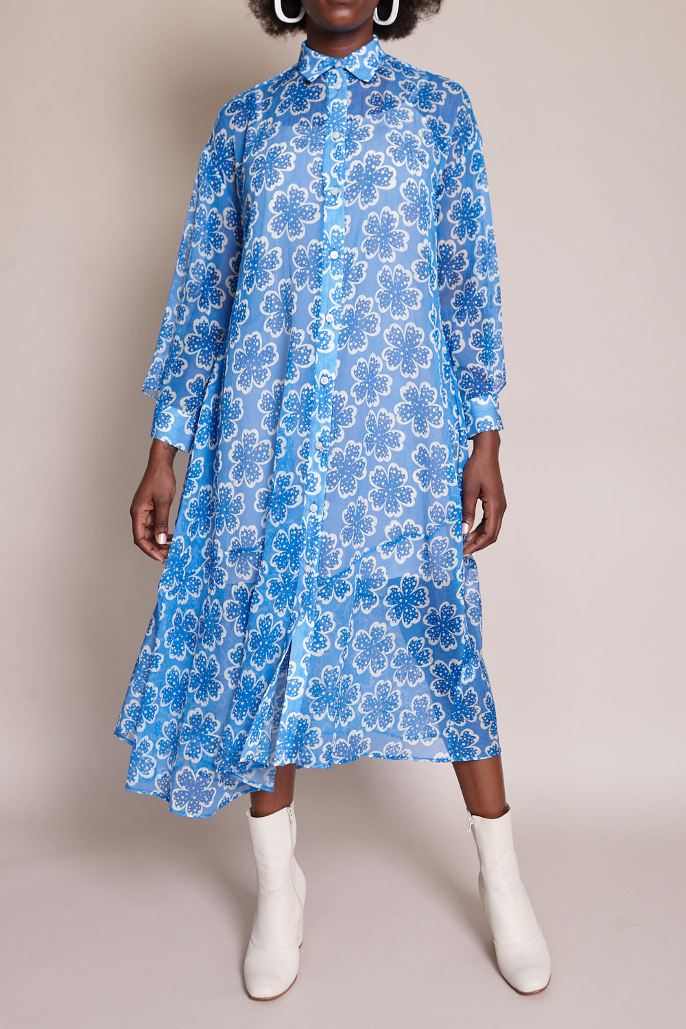 Rachel Comey Braden Dress in Blue - Vert & Vogue