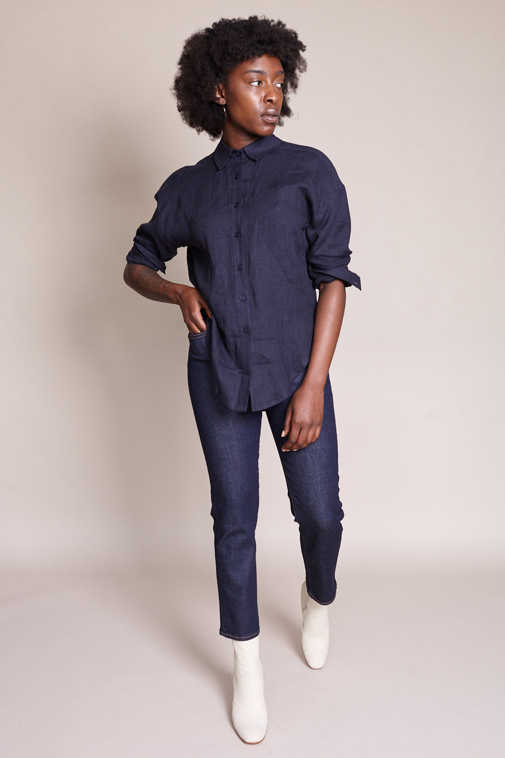 Dolman Shirt in Navy