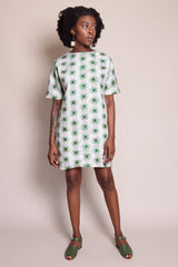Samuji Belisma Dress in Green Powder - Vert & Vogue