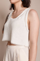 Sweater Tank in Natural