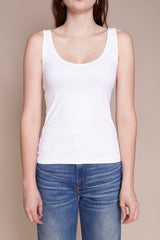 Only Hearts Delicious Low Back Tank in White - Vert & Vogue