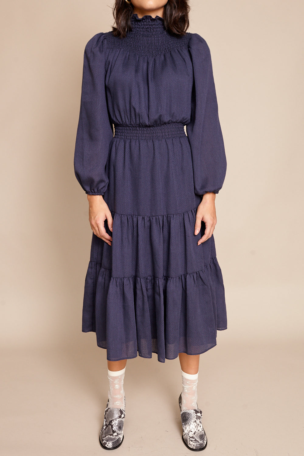 Daisy Dress in Navy
