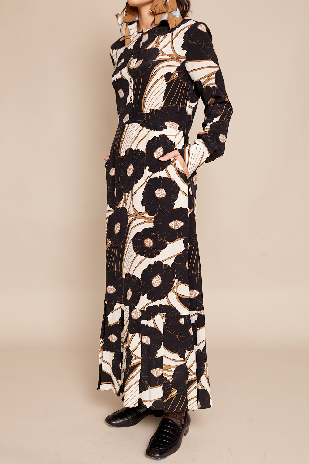 Rachel Comey Cessation Dress in Psychedelic Floral - Vert & Vogue