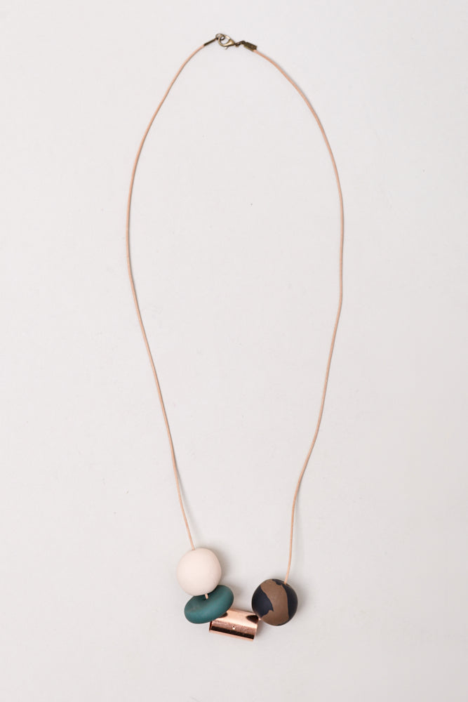 The Everyday Necklace With Green Disc