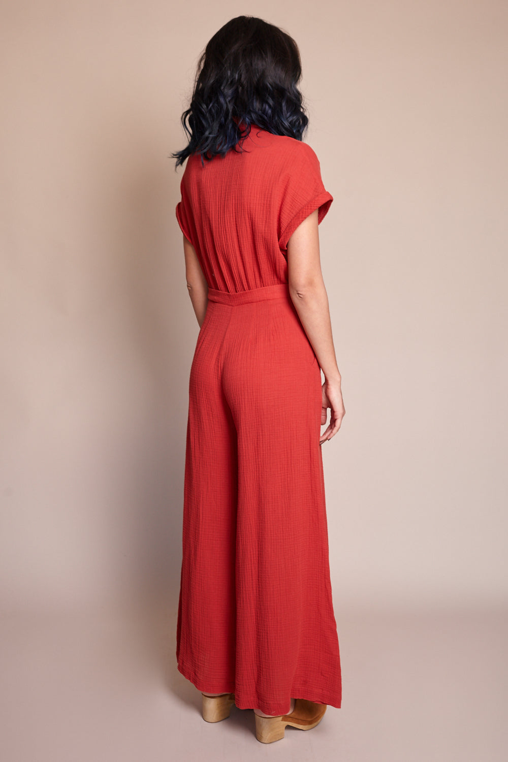 Valentina Jumpsuit in Red