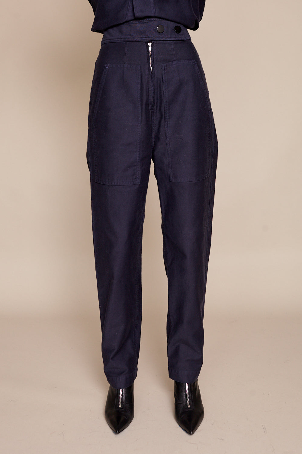 Emi Pants in Navy Twill