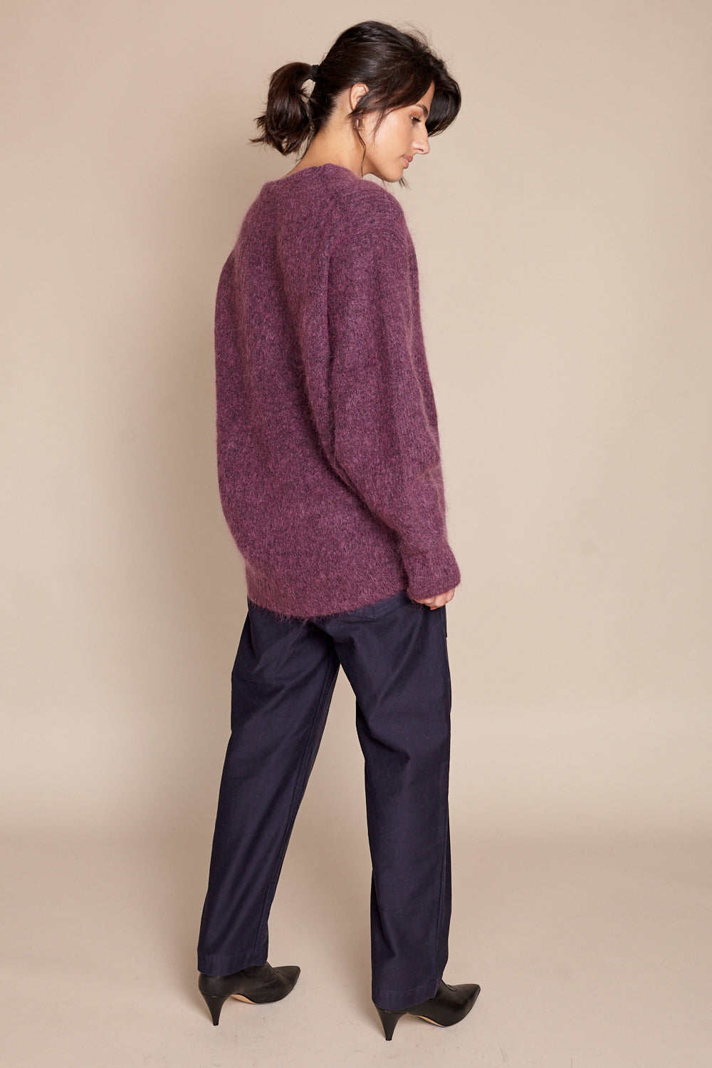 Sayaka Davis Cocoon Sweater in Amethyst - Vert & Vogue