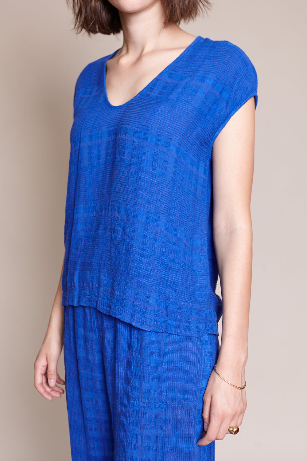 Shell Top in Cobalt