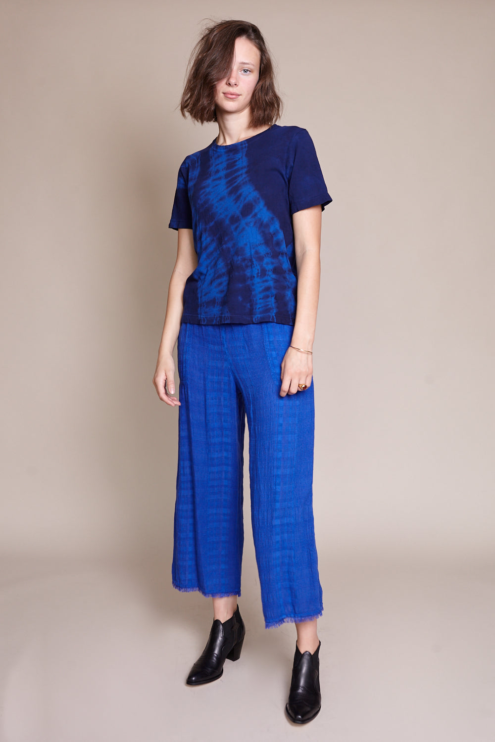 84a8919a Boxy Tie Dye Tee in Cobalt ...