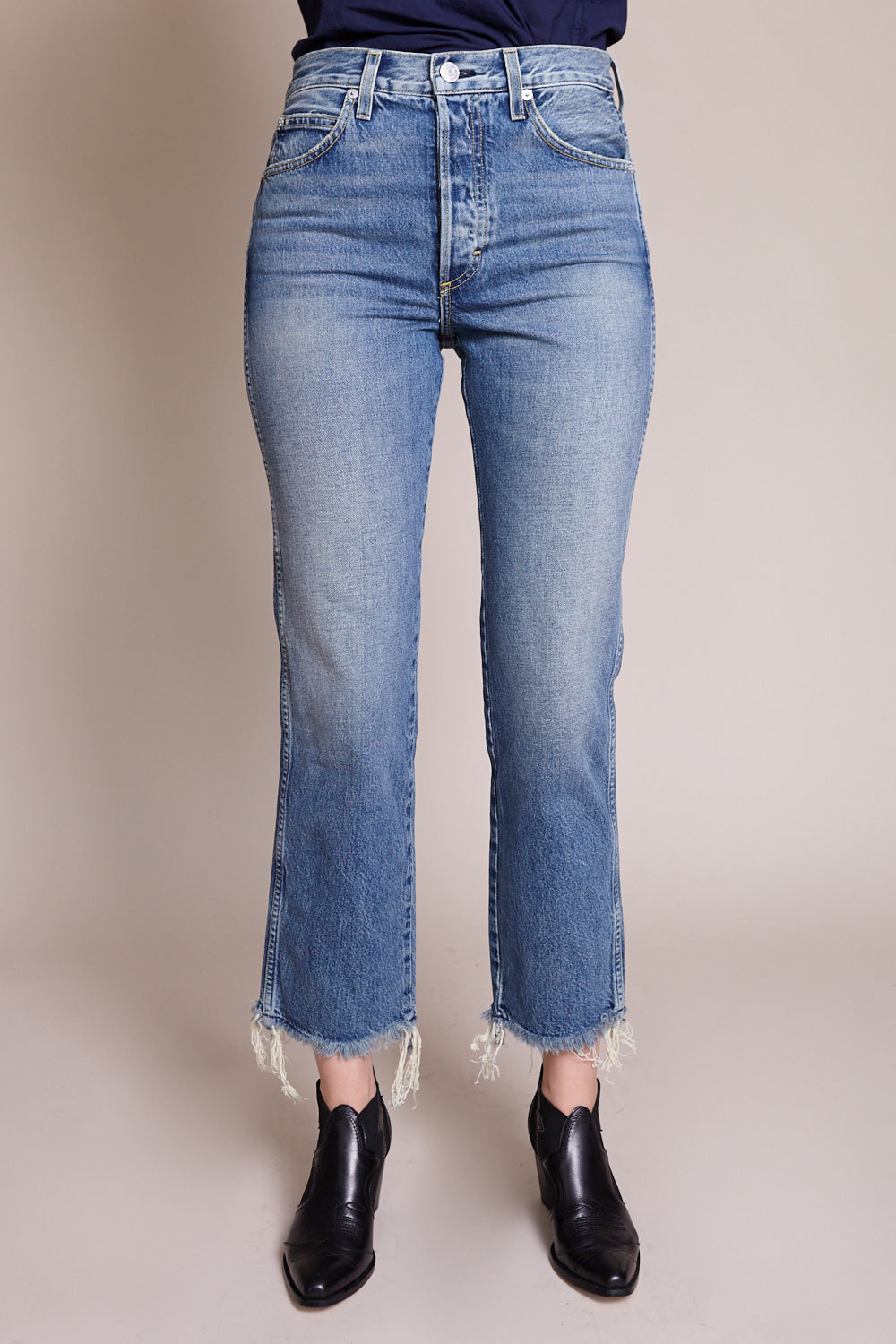 Layla High Rise Straight Leg Jean in Tomcat