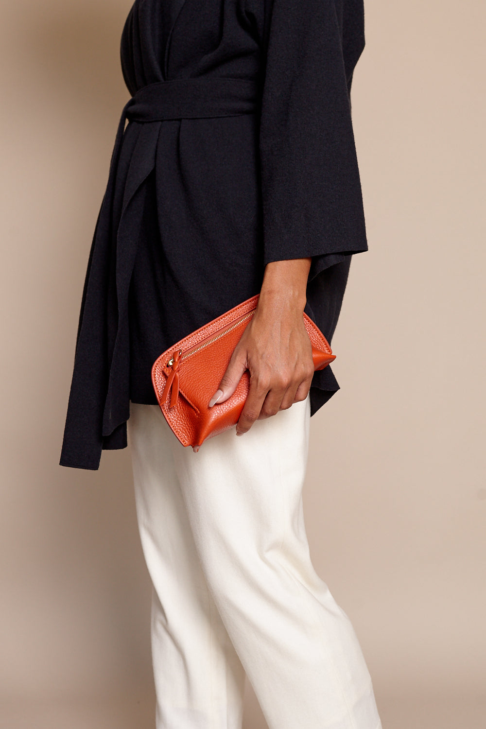 The Mini Lois Clutch in Orange
