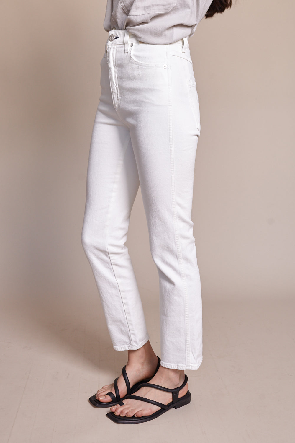 Chloe Crop Jean in Sea Salt