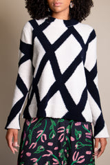 Kasia Sweater in Off White Navy