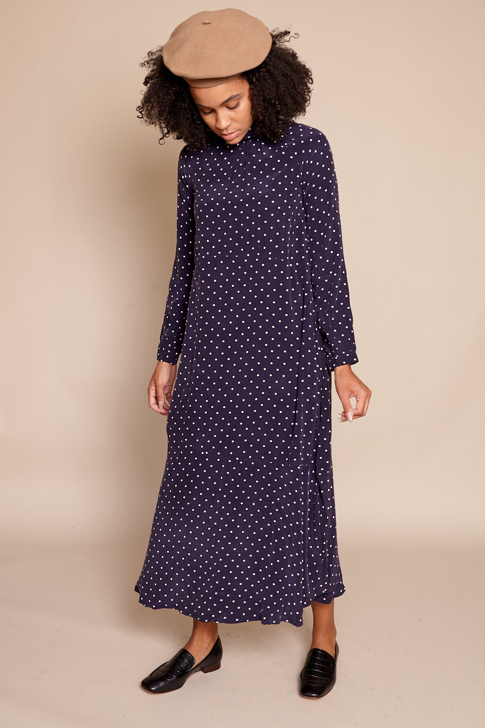 Maria Stanley Jordan Dotted Dress in Dotted - Vert & Vogue