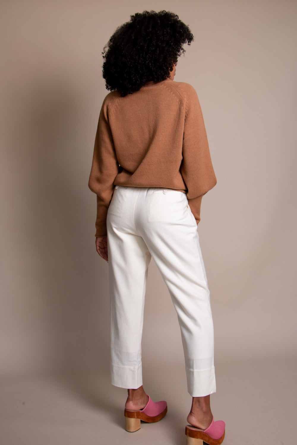 Painter Wool Trouser in Off White
