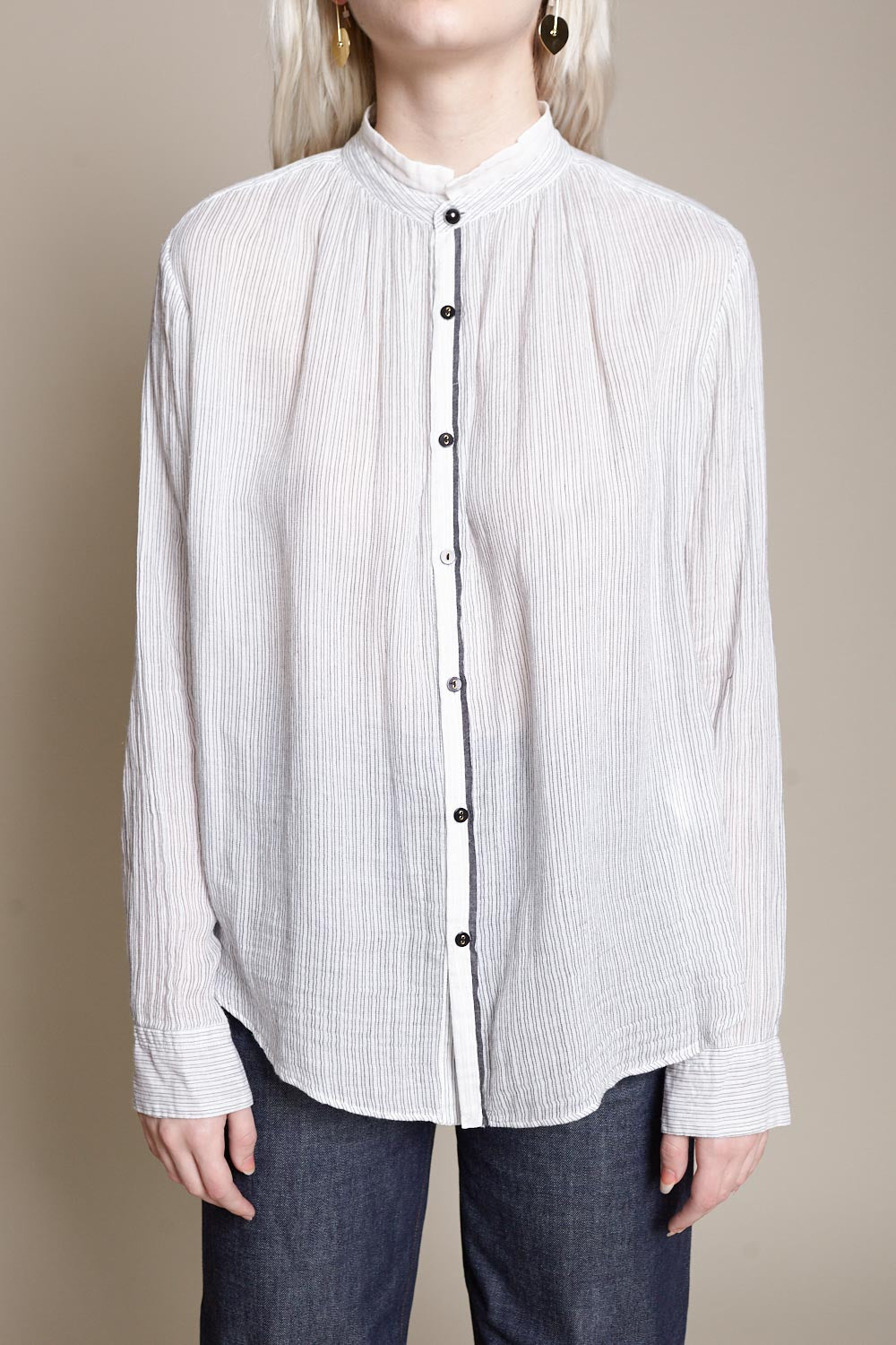 pas de calais Blouse in White - Vert & Vogue