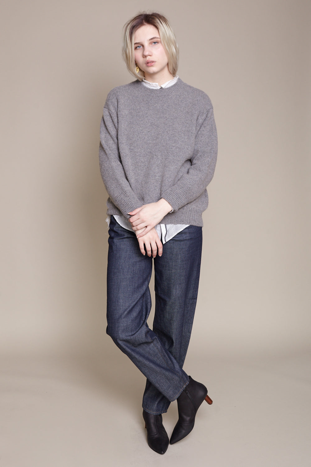 pas de calais Crew Neck Pullover in Grey - Vert & Vogue