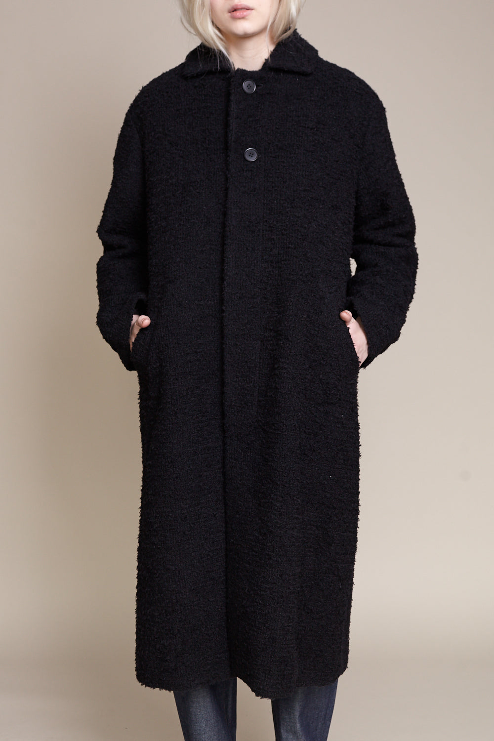 pas de calais Coat in Black - Vert & Vogue