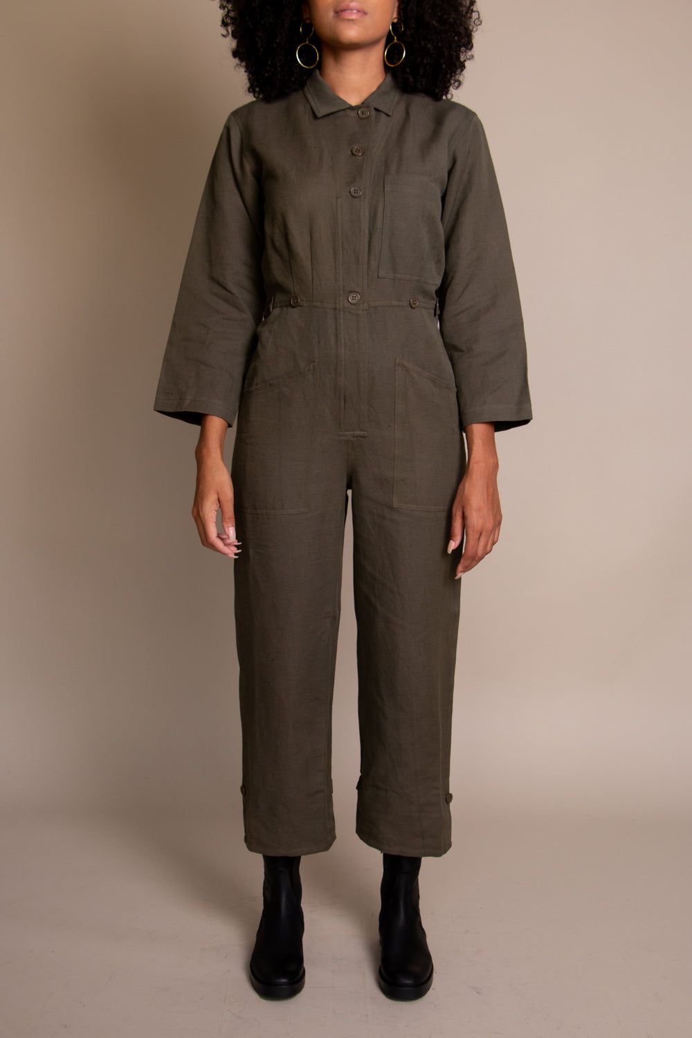Ares Jumpsuit in Moss