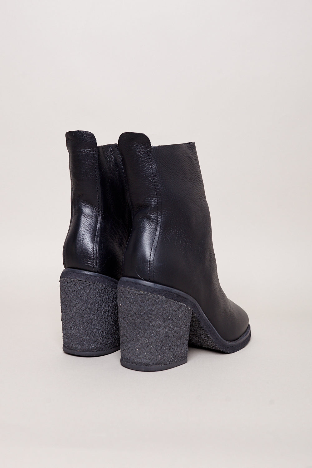 Wal and Pai Briggs Ankle Boot in Black Calf - Vert & Vogue