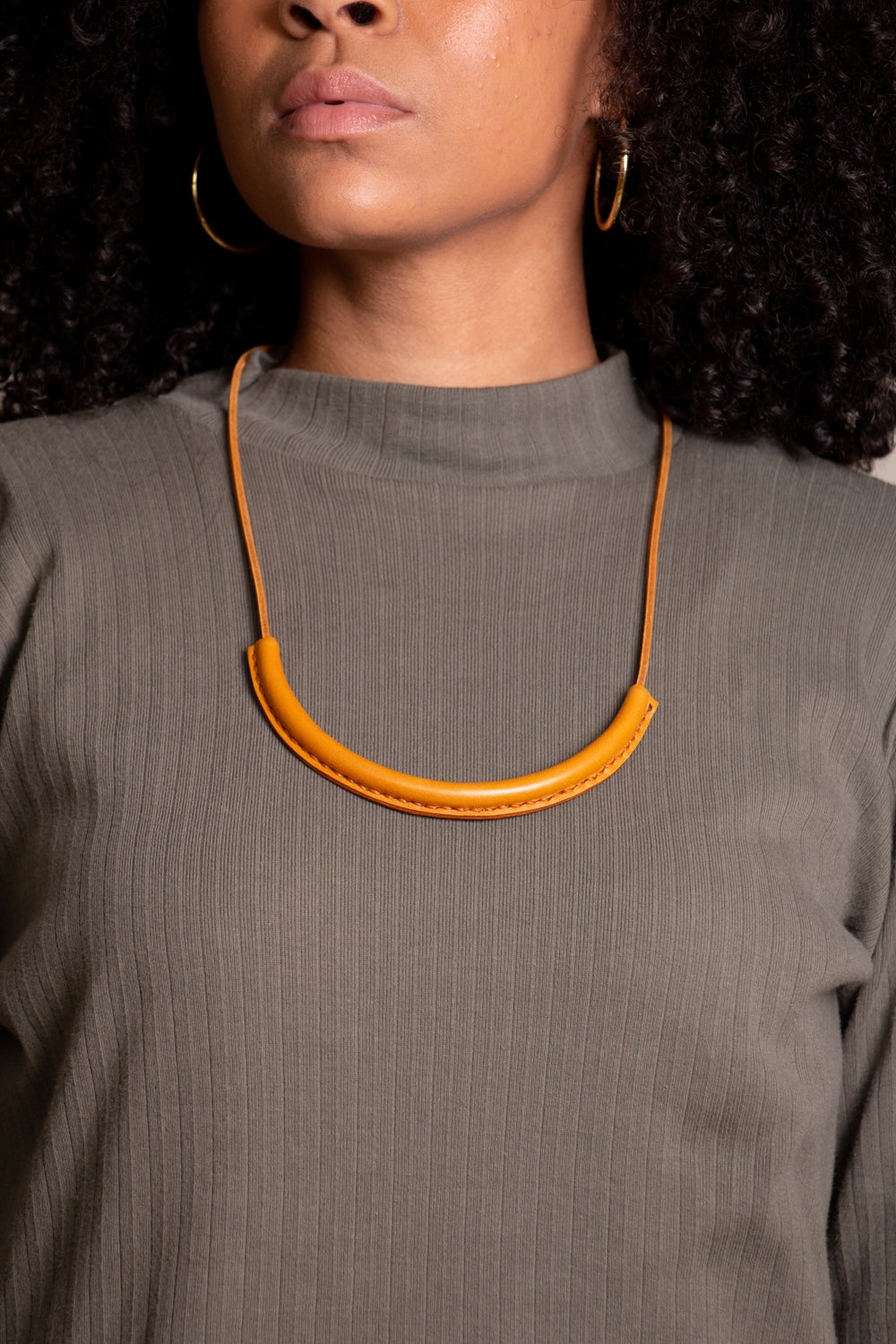 Circuit Necklace in Turmeric