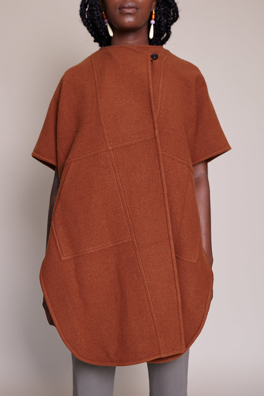 Fatima Wrap Cape in Copper