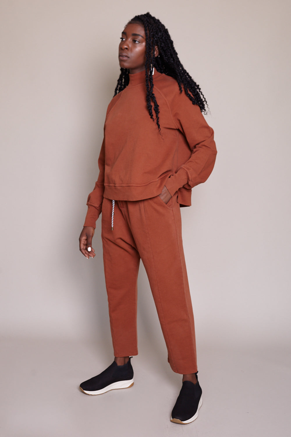 Hera Sweat Pant in Copper