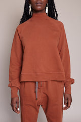 Sequoia Mock Neck Sweatshirt in Copper