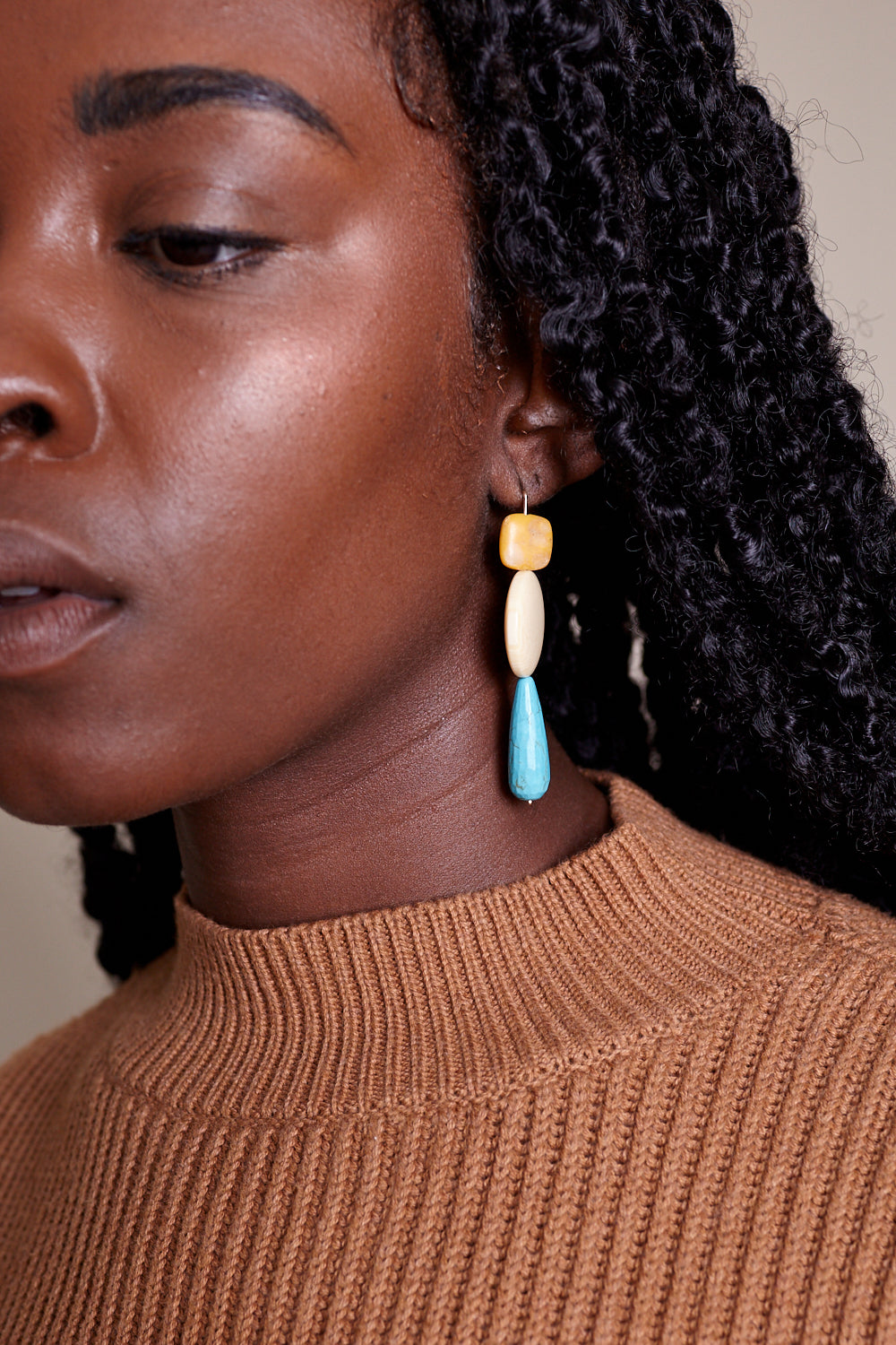 Turquoise and Jasper Earrings