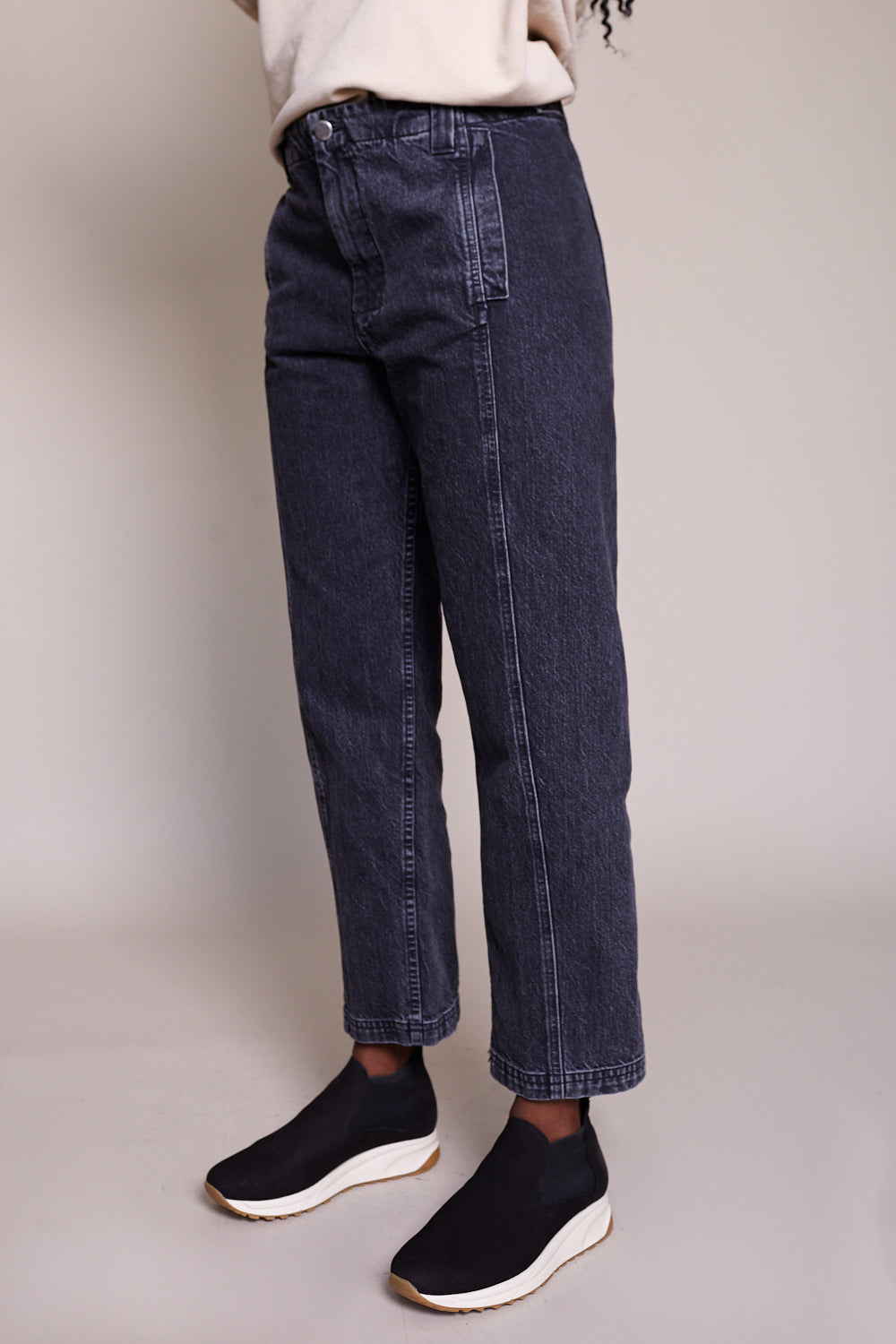 Steer Pant in Washed Black