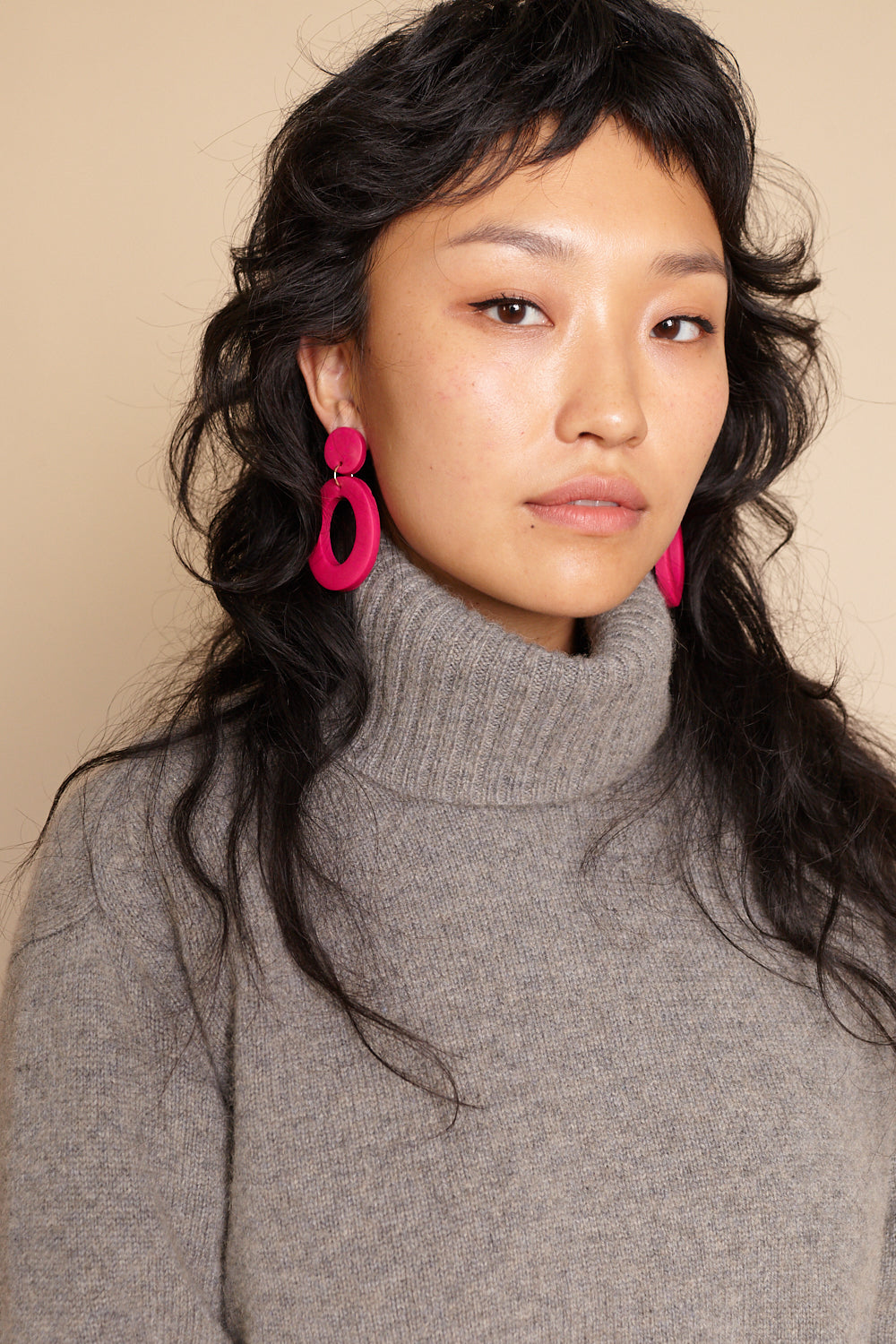 Jemma Earrings in Fuchsia