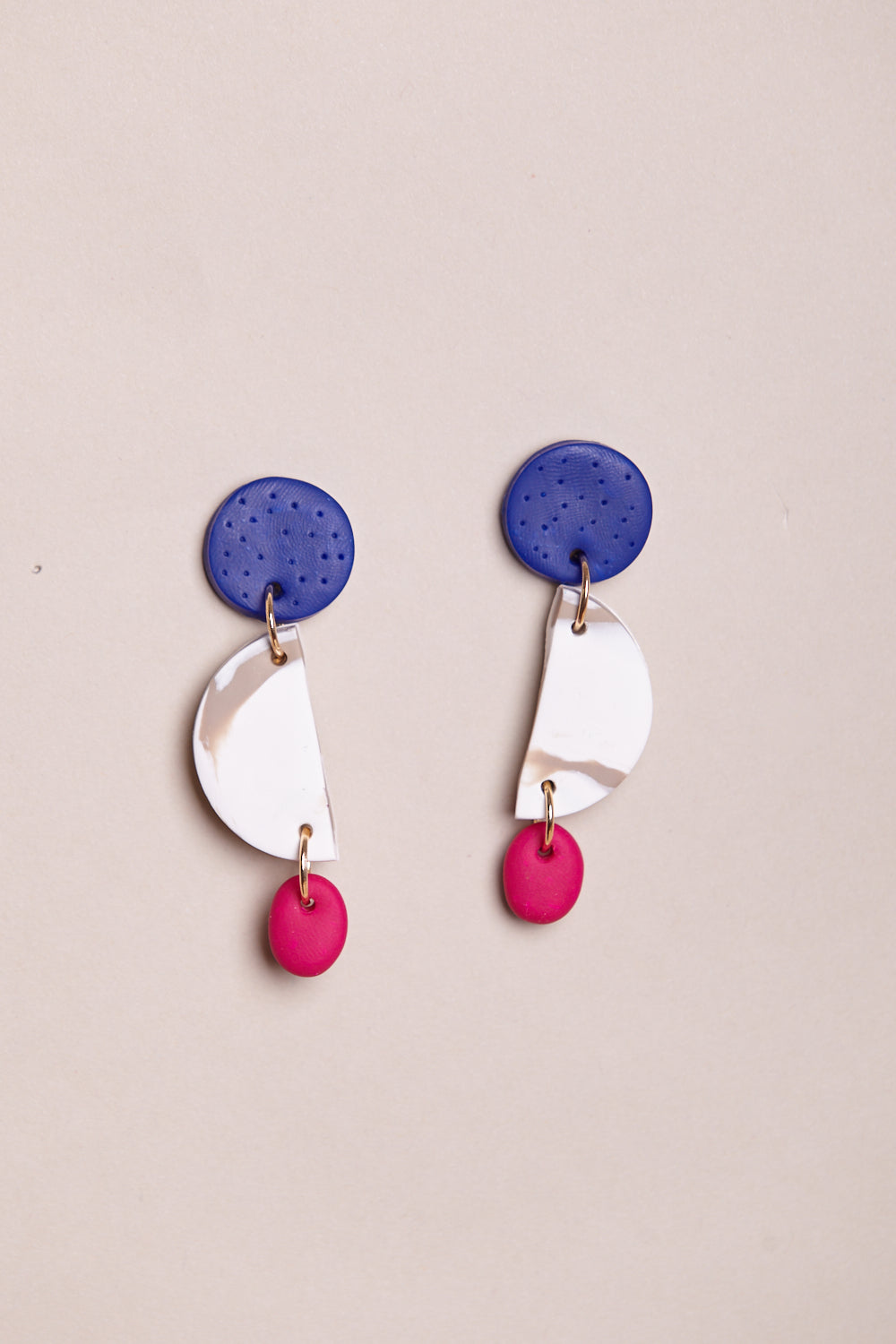 Jo Earrings in Royal Fuchsia