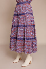 Warm Casey Skirt in Dark Multi - Vert & Vogue