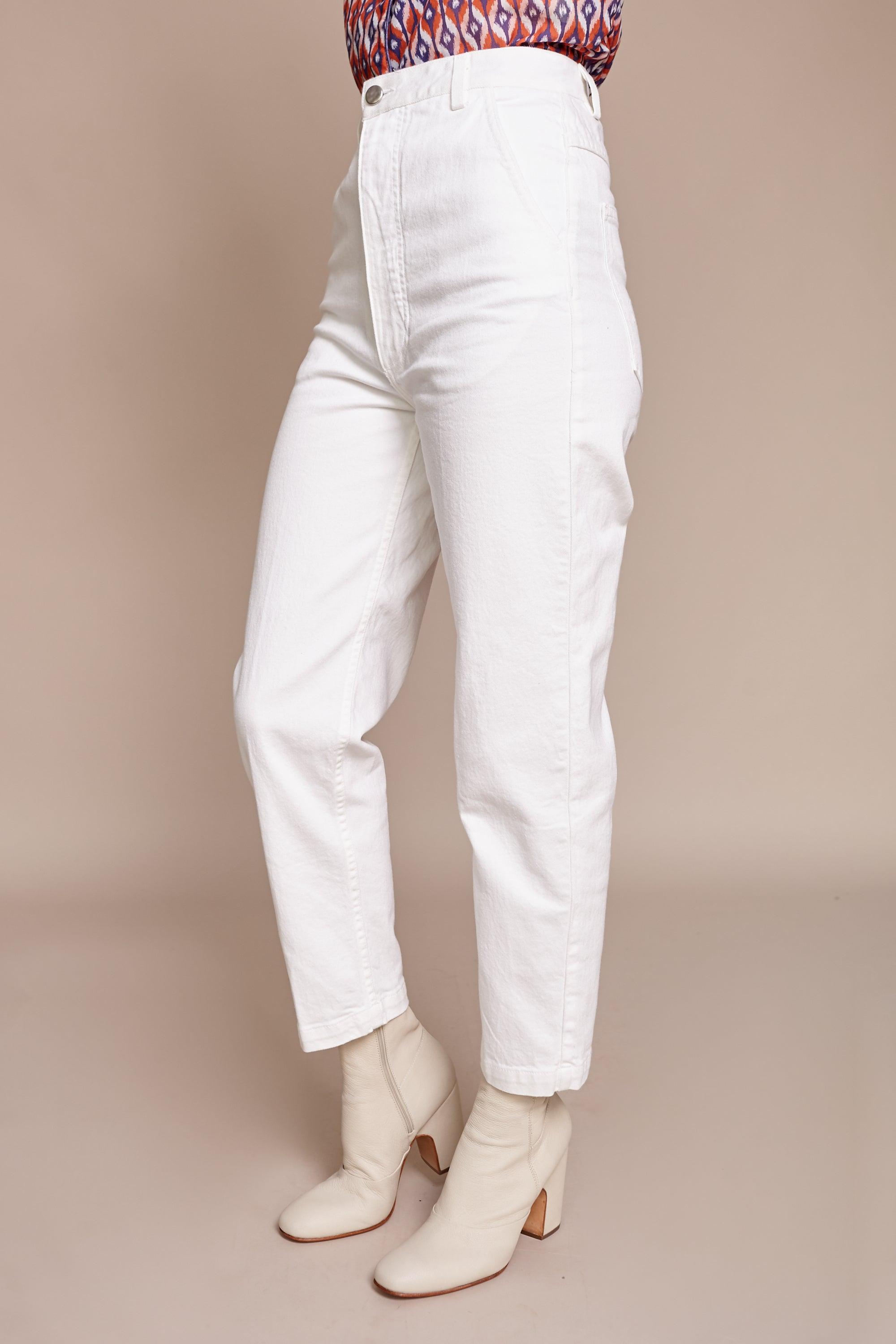 Pseudo Pant in Raw White