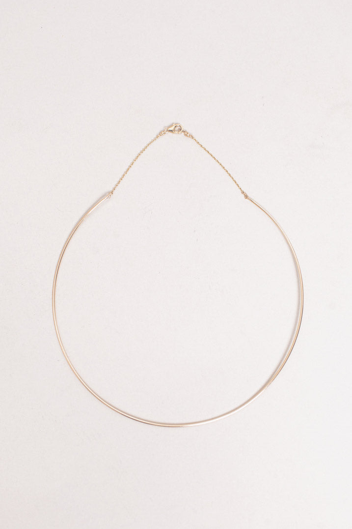 Thread Choker Necklace in Gold